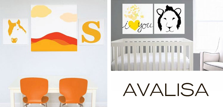 Add some color and whimsy to your walls with stretched wall art from Avalisa, new at Inmod!