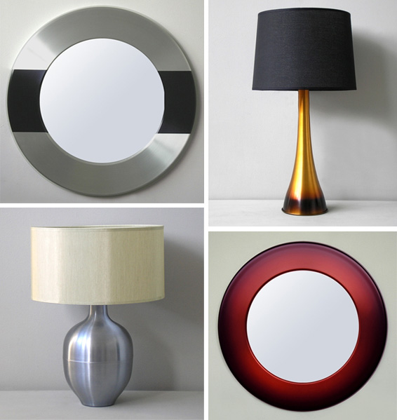 Check out Babette Holland, a handmade collection of modern lamps and mirrors made in the USA.