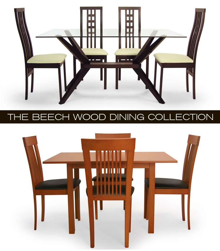 Mix and matching your modern dining set with the Beech Wood Dining Collection, new at Inmod! 