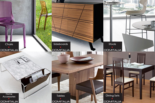 Take a look at the modern furniture offered from Domitalia, a new line of dining furniture and home accessories.