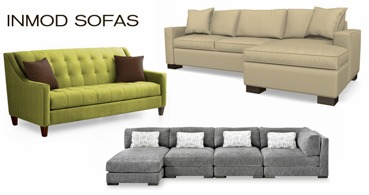 Inmod Sofas consist of Inmod's exclusive modern sofas including sectionals, chairs and loveseats.  