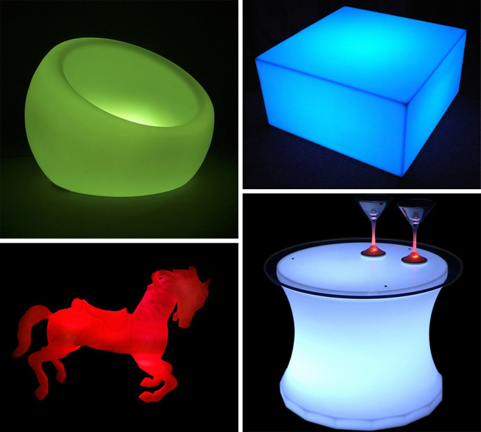 Light up your home both indoors and out with fun, colorful lighting from Modular Props, new at Inmod!