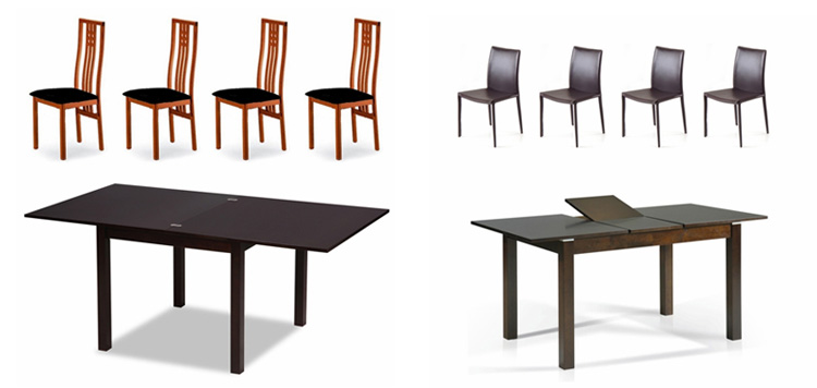 The Bistro Dining Collection - a collection of modern dining sets, sold together or individually.