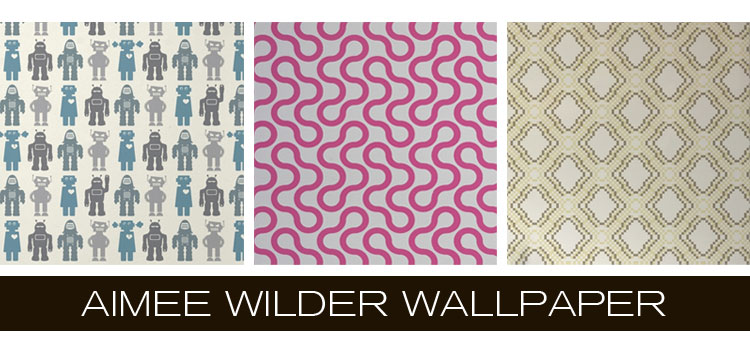 Brighten up white walls with vibrant modern wallpaper from Aimee Wilder Wallpaper, now available at Inmod.com.