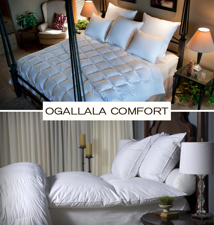 Ogallala Comfort has a variety of duvet inserts, pillow inserts, and mattress enhancers for your modern bedroom.