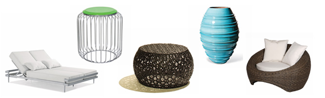 The Breeze Collection - a new collection of modern outdoor seating, tables, planters and decor available at Inmod.com