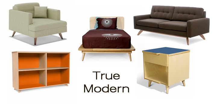 True Modern: an awesome new line of modern furniture that includes modern sofas and children's furniture, now available at Inmod. 