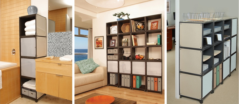 Lessen the clutter in your home with a modern storage unit from Yube Cube, now available at Inmod! 