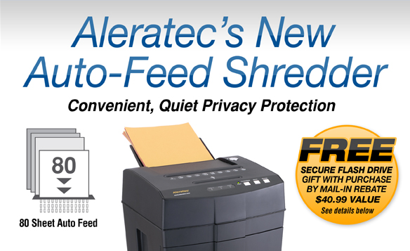Aleratec's New Auto-Feed Shredder Convenient, Quiet Privacy Protection