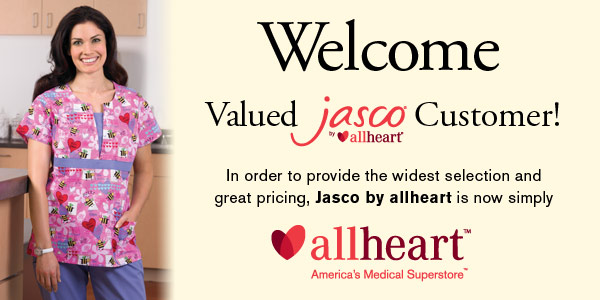 Welcome Valued Jasco Customer! In order to provide the widest selection and great pricing, Jasco by AllHeart is now simply AllHeart.com, America's Medical Superstore™.