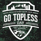 AllThingsJeep.com's 2014 Go Topless Day Shirts, Decals, Tire Covers & More