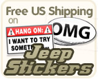 AllThingsJeep.com's Jeep Decals & Stickers