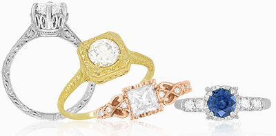 Vintage Wedding Ring Sets
