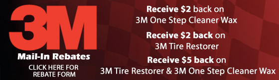 3M One Step Cleaner Wax and Tire Restorer Rebate