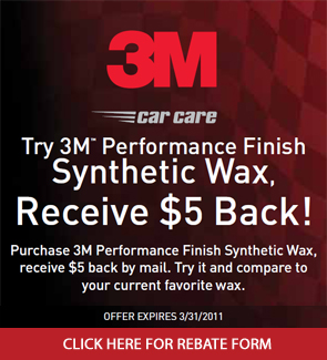 3M Performance Finish Rebate