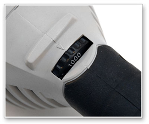 The 3M Rotary Polisher operates at speeds from 1,000-3,000 rpm.