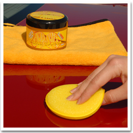 Use a soft foam or microfiber applicator, or your bare hands, to apply Dodo Juice Banana Armour Wax.