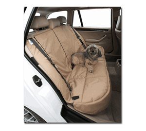 The Canine Covers Custom Rear Seat Protector keeps your back seat clean and tidy, even when you bring your pet along.