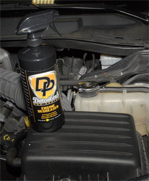 Detailer's Pro Series DP Engine Cleaner leaves rubber, metal, and plastics clean and degreased.