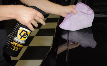 Detailer's Pro Series DP Final Gloss Quick Detailer enhances the gloss of all paint colors.