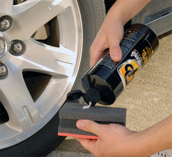 Detailer's Pro Series DP Gloss Tire Gel is a thick, creamy formula.