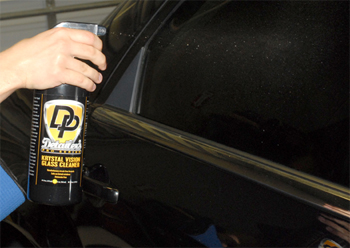 Detailer's Pro Series DP Krystal Vision Glass Cleaner cleans auto glass.