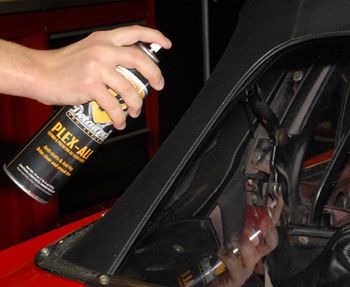 Detailer's Pro Series DP Plex-All protects convertible top windows.