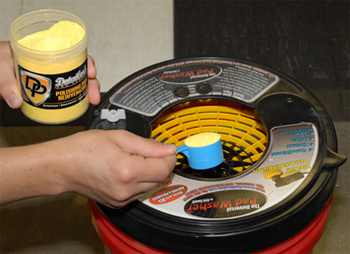 Use Detailer's Pro Series DP Polishing Pad Rejuvenator with the Grit Guard Universal Pad Washer.