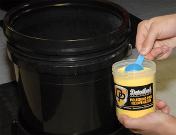 Detailer's Pro Series DP Polishing Pad Rejuvenator is a concentrated buffing pad cleaner.
