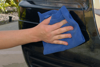 Use a Microfiber Towel to buff the clayed area.