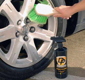 Use a feather-tipped wheel brush to clean the wheels.