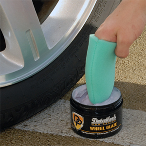 Detailer's Pro Series DP Wheel Glaze cleans and protects wheels.