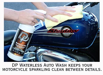 how to clean road splatter off motorcycle without scratching it