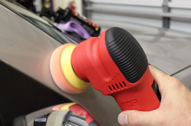 "Griot's Garage 3"" Mini Polisher  is great for pillars and narrow spaces."