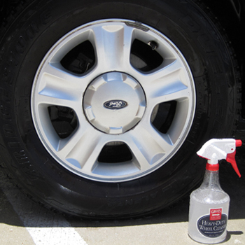 Griot's Garage Heavy Duty Wheel Cleaner removes brake dust and grime from wheels.