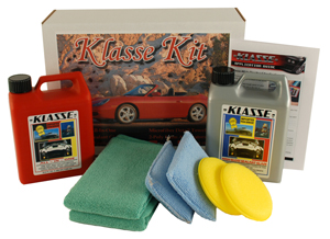The Klasse Super Size Kit contains 33 oz. bottles of Klasse All In One Auto Polish and Klasse High Gloss Sealant Glaze.
