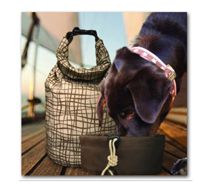 The Kurgo Kibble Carrier makes packing a lunch for your pet easier than ever.