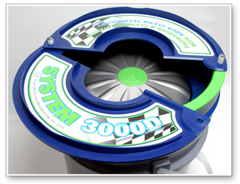 The System 3000 Deluxe Pad Washer makes cleaning buffing pads easier than ever!