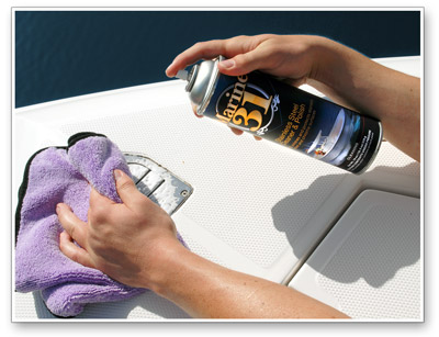 Marine 31 Stainless Steel Cleaner and Polish makes all metal surfaces look new again!