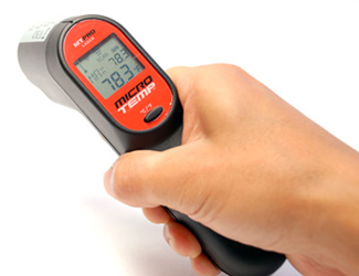 The MicroTemp MT-PRO has an ergonomic handle and is very easy to use