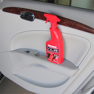 Mothers Vinyl Leather Rubber cleans and protects interior surfaces.