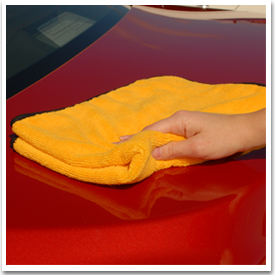 Use a soft Cobra Microfiber Towel to buff off Dodo Juice waxes.