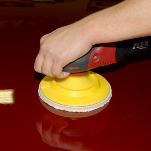 Optimum Microfiber Polishing Pad and FLEX polisher.