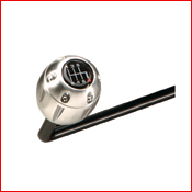 PitStop GT Chair billet-aluminum shift knob.