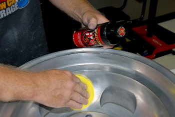 Apply Wolfgang Metallwerk Concours Metal Sealant to protect aluminum wheels.