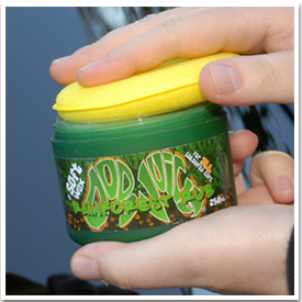 Use a soft foam or microfiber applicator, or your bare hands, to apply Dodo Juice Rainforest Rub Soft Wax.