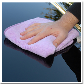 Buff off Blue Velvet Wax with a soft, clean Cobra Microfiber Towel.