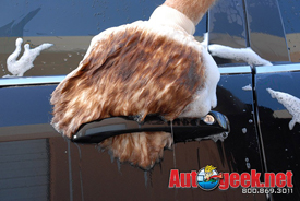 Use the Dodo Juice Wookie Mitt to safely wash your car with Wolfgang Auto Bathe.