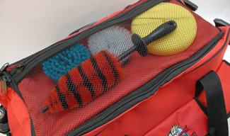 The Autogeek Professional Detail Bag has storage compartments, pockets and cubbies everywhere!