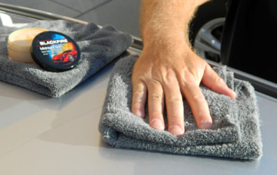 BLACKFIRE Midnight Wax Removal Towel is perfect for dark colored vehicles because it will not scratch!